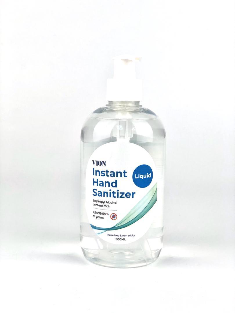 (READY STOCK) Vion Instant Hand Sanitizer Liquid 500ML (Rinse free&non-sticky)